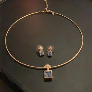 Choker pendant with matching earrings
